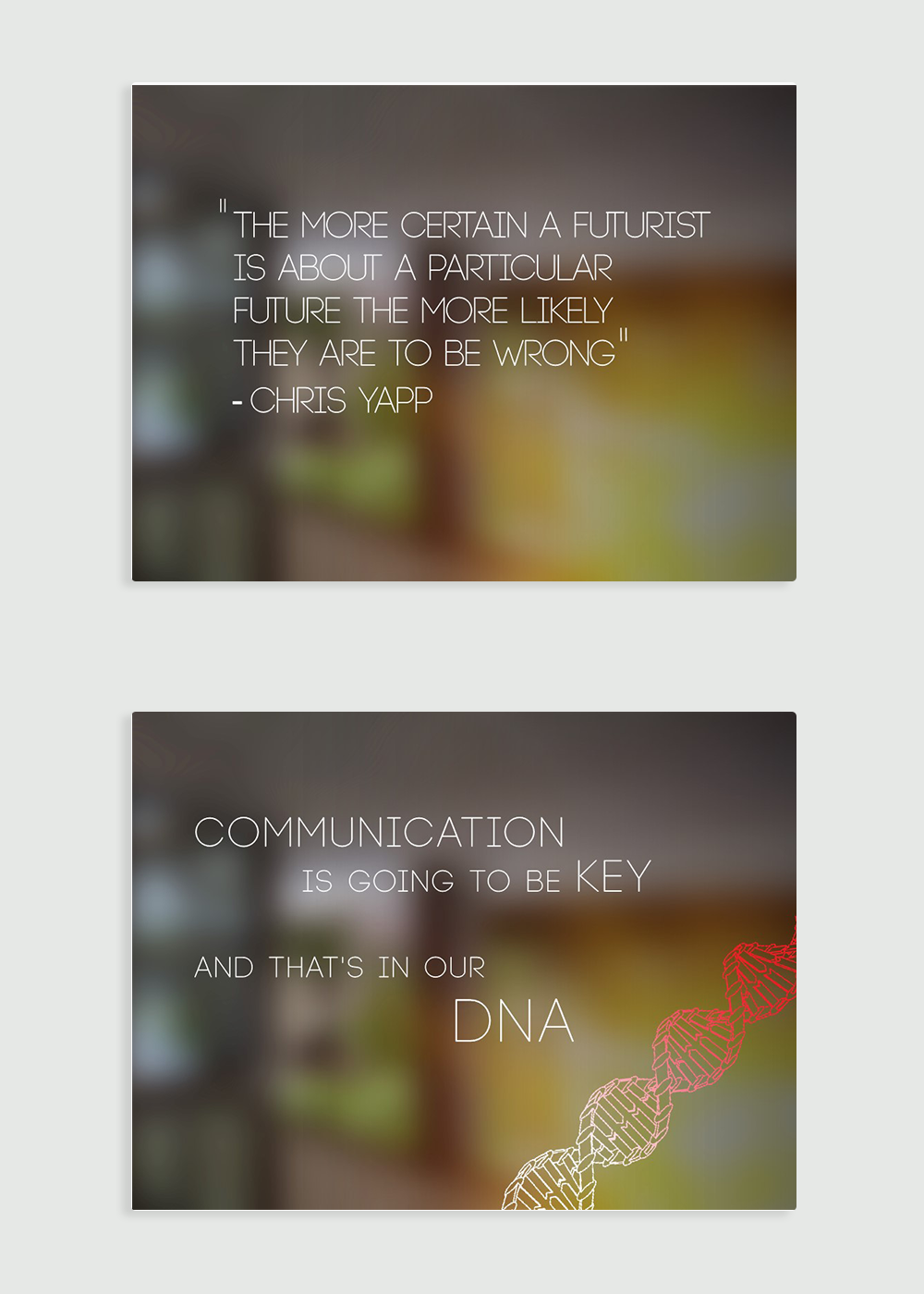 Quote and summary slide