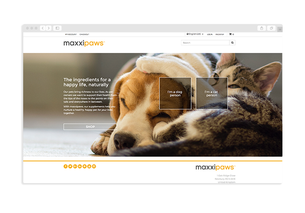 Maxxipaws website