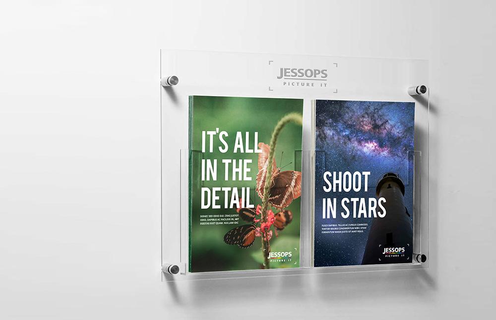 Retail flyers in situ